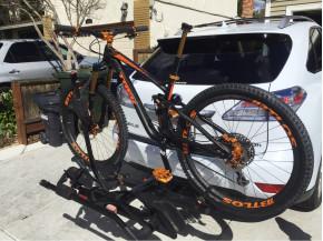 Trek Mountain bike with BTLOS 29er 36mm wide enduro carbon