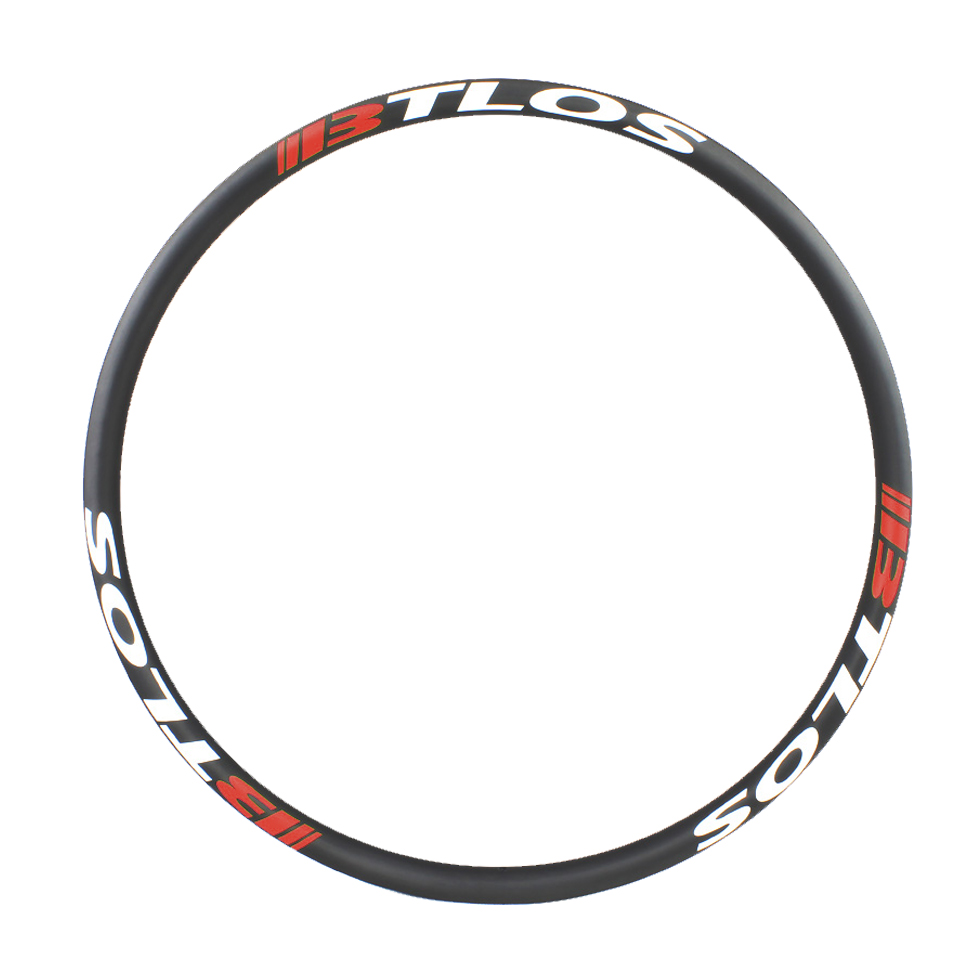 Asymmetric 29er 45mm wide carbon fiber hook-less rims for 29 plus mountain bike