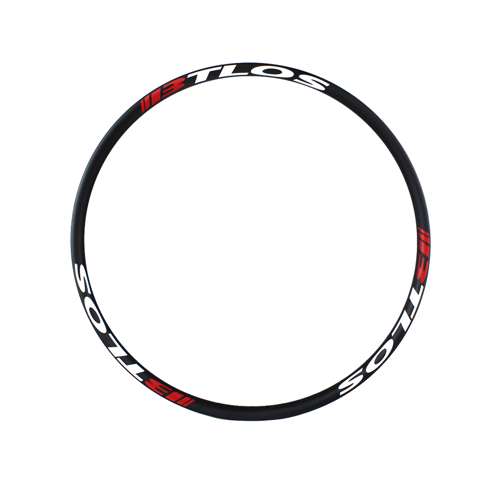XC asymmetric premium mountain bicycle carbon 650B 27mm wide tubeless compatible carbon rim
