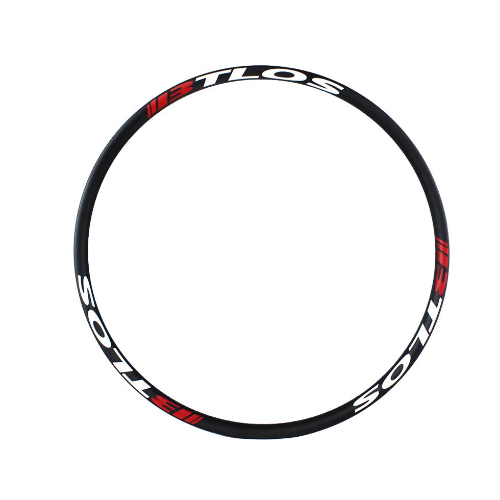 XC asymmetric premium mountain bicycle carbon 650B 27mm wide tubeless compatible carbon rim