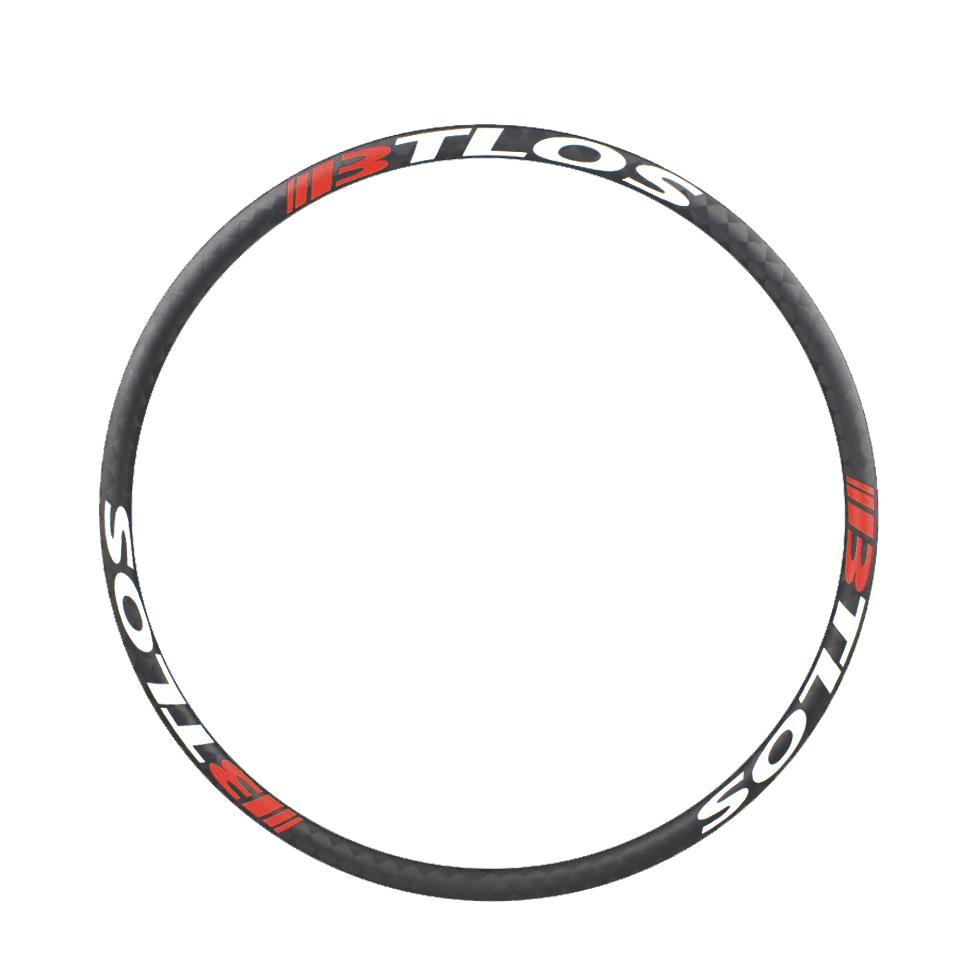 Asymmetric 27.5''/650B plus mountain bike 45mm wide carbon wheels