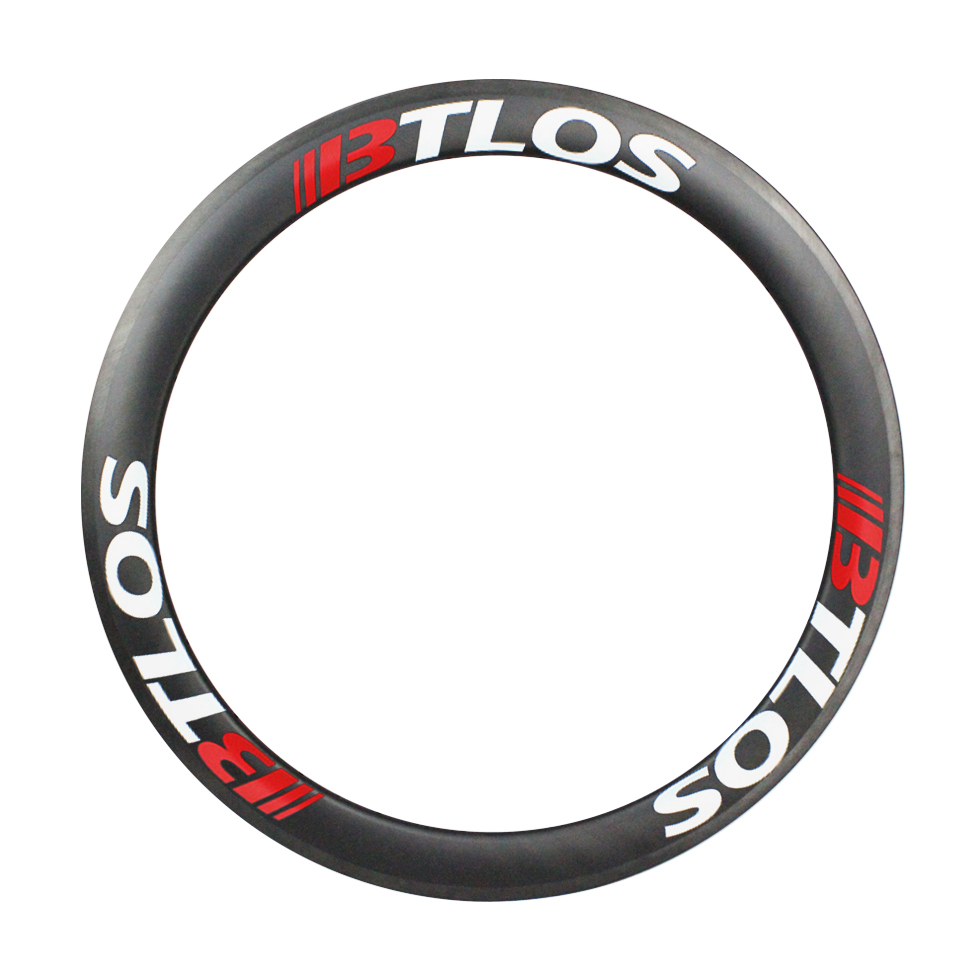 lightweight carbon fiber 700c rims 55mm deep tubular for triathlon cyclocross road bike