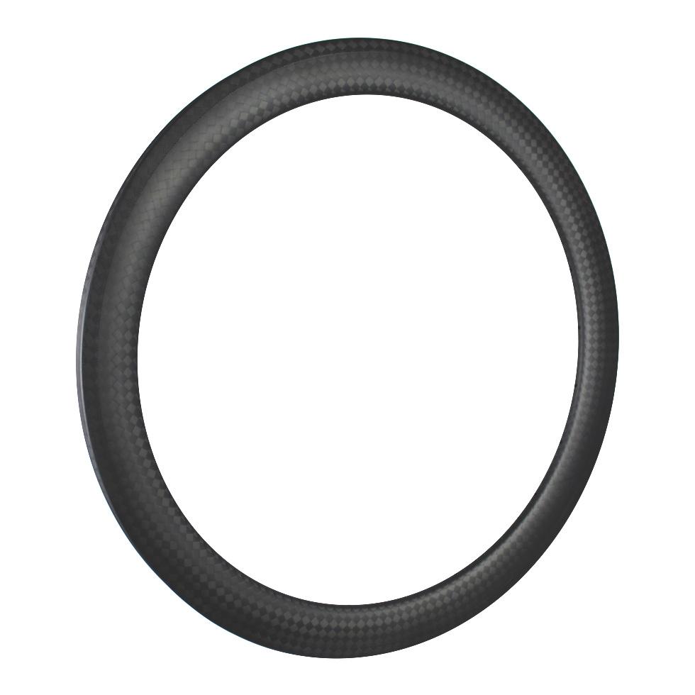 lightweight carbon fiber 700c rims 55mm deep tubular for triathlon cyclocross road bike