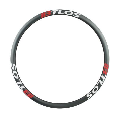 Asymmetric 700C 35mm Deep Clincher Tubeless Compatible CX/Gravel Disc Carbon Rims