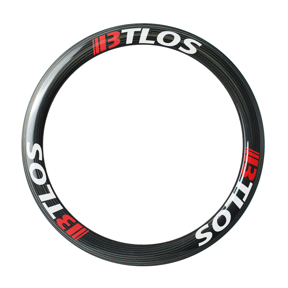 700C carbon road bike rims 55mm deep clincher 26mm wide U shape tubeless compatible