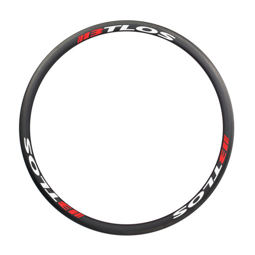 700c 30mm deep U shape tubular carbon rims road bike