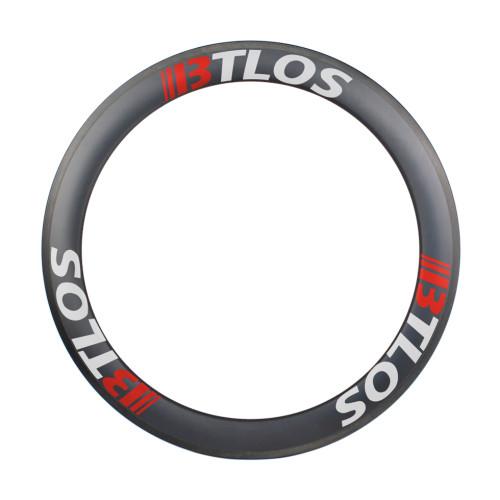 road composite bike wheels carbon fiber rims 700c 60mm deep tubular
