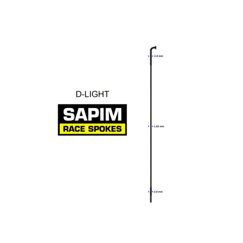 Sapim D-Light spokes ( including Sapim nipples )