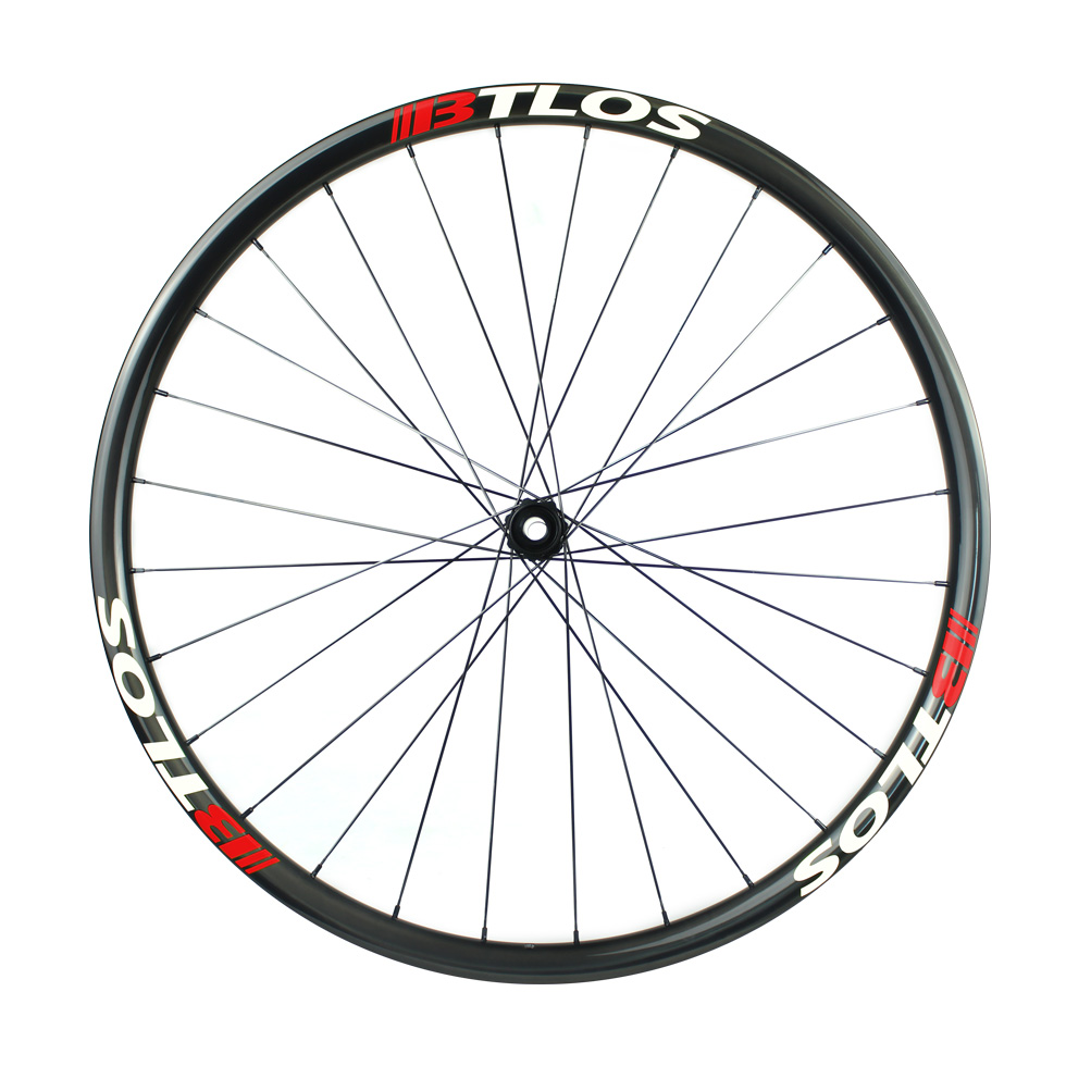 Asymmetric hand-built XC trail carbon bike wheels