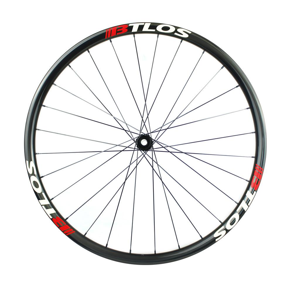 Asymmetric hand-built XC trail carbon bike wheels