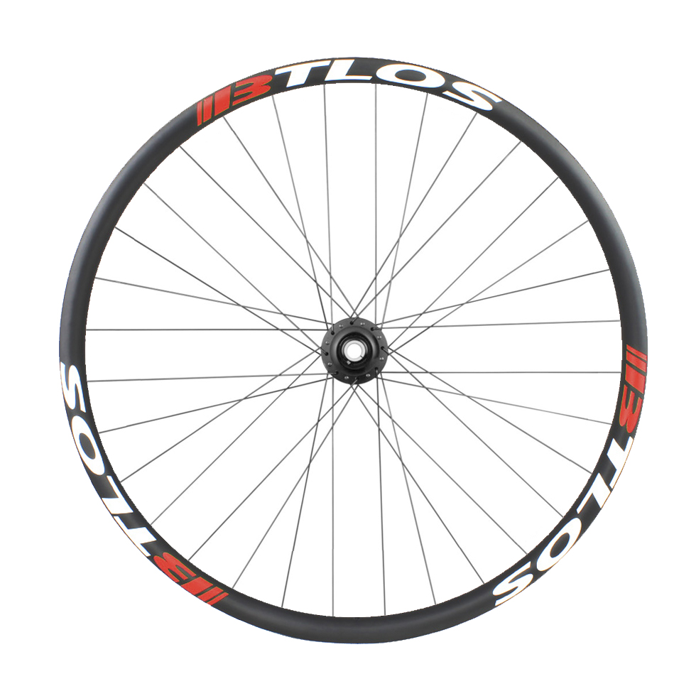 Asymmetric 29er 45mm wide carbon fiber hook-less wheelset for 29 plus mountain bike