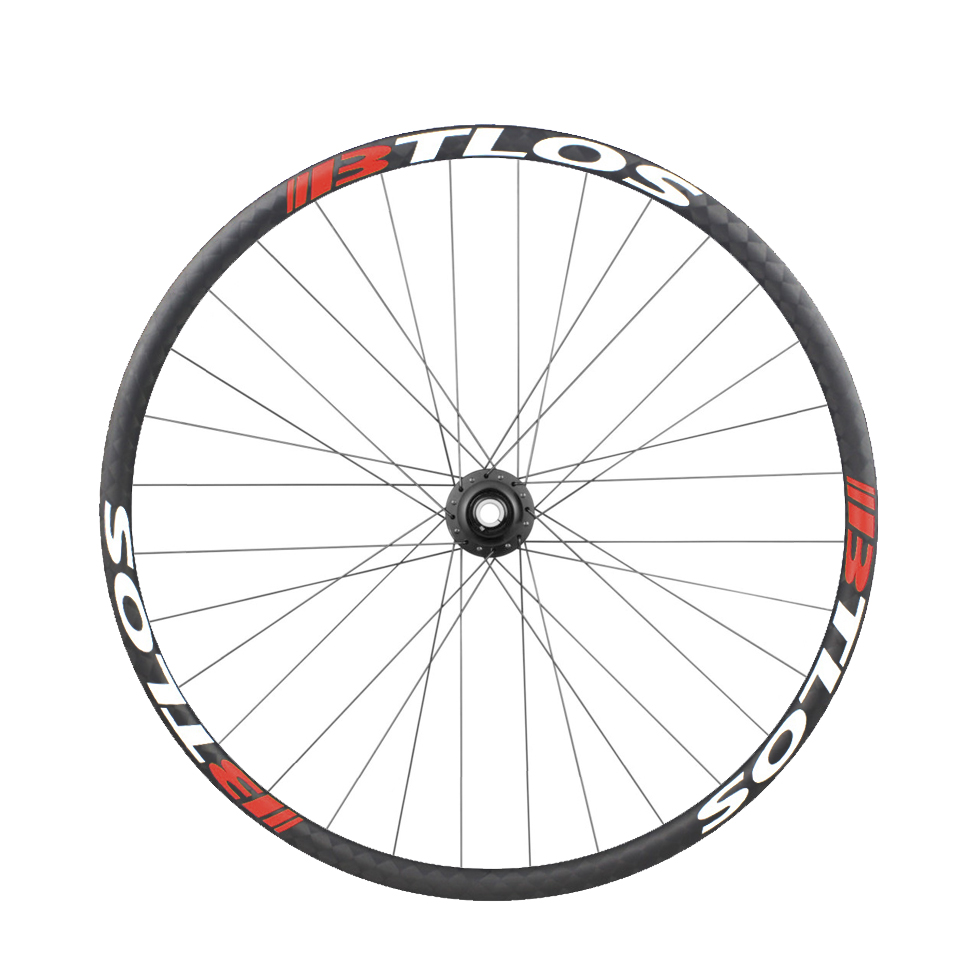 asymmetric XC trail carbon fiber mountain bike wheelset 650B 32mm width tubeless compatible