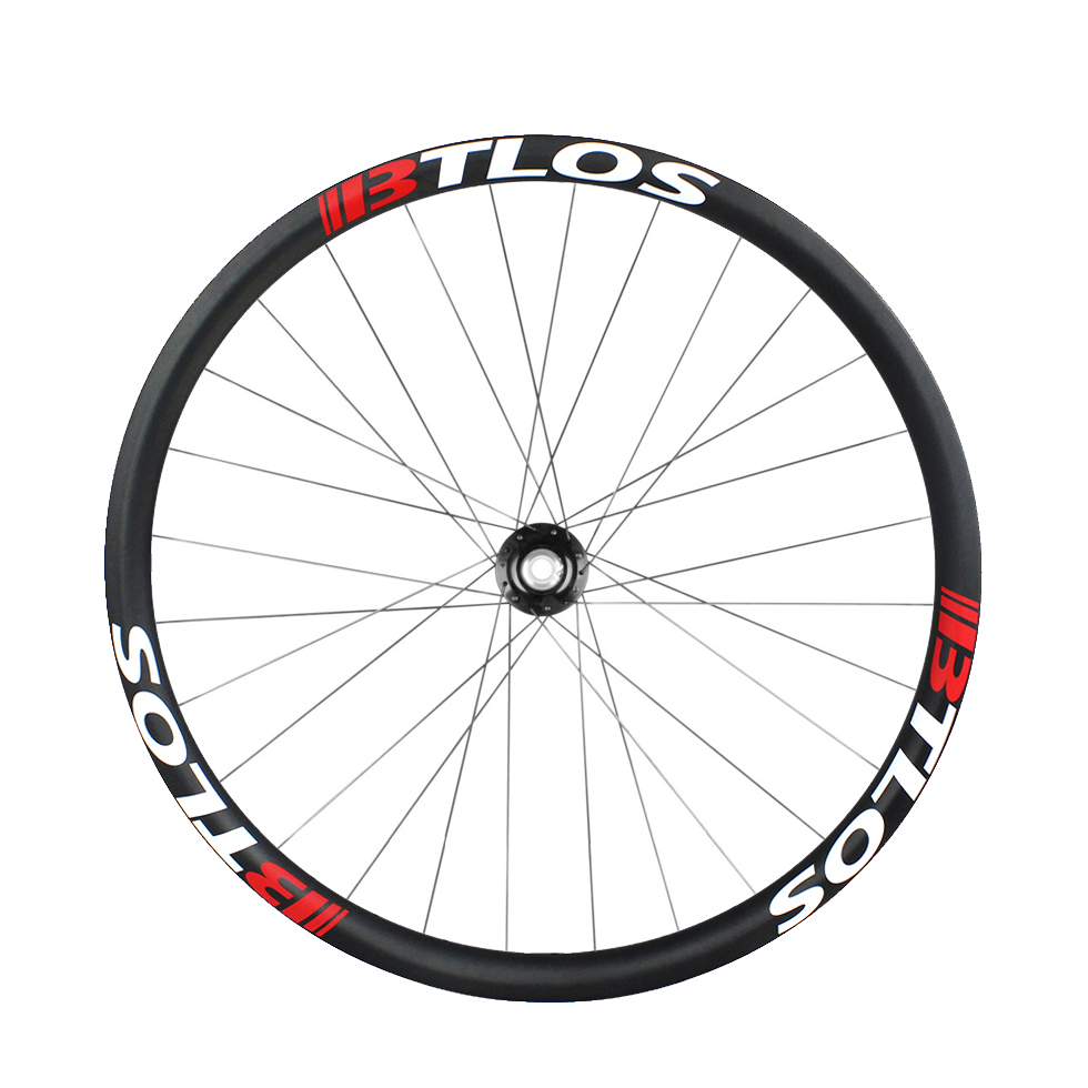 MTB 27.5inch/650B 40mm wide symmetrical hookless and tubeless compatible wheelset