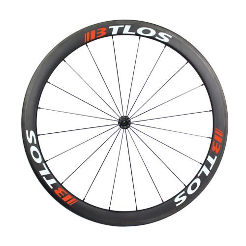 700C 45mm deep clincher carbon fiber wheels for cyclocross bike