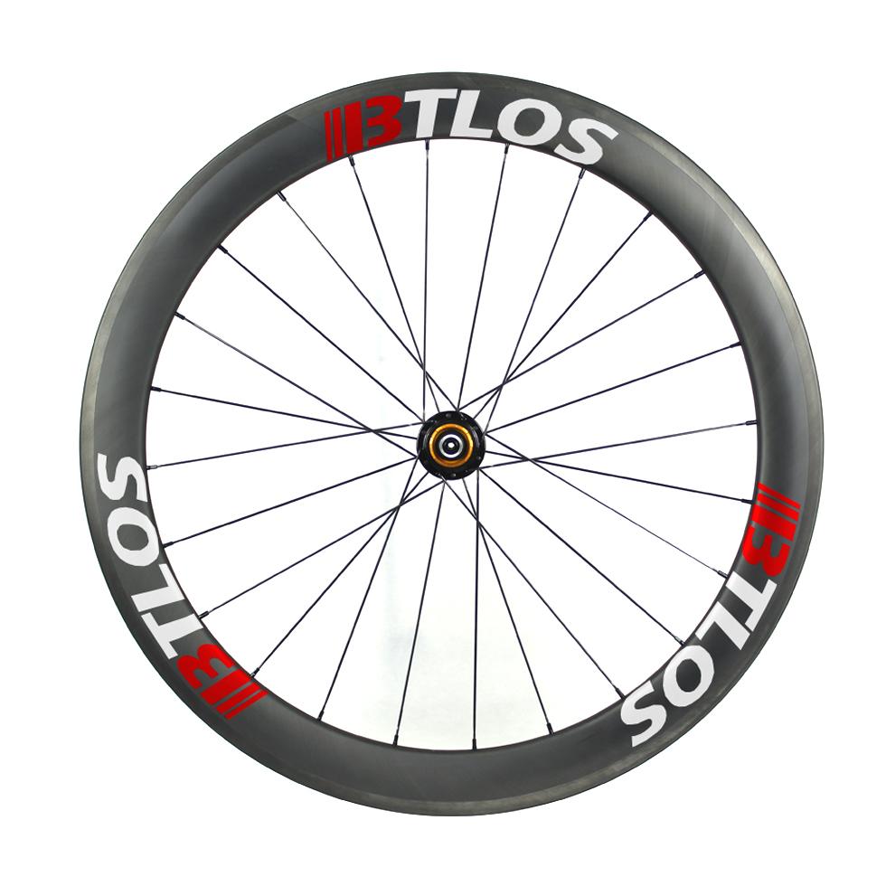 700C carbon road wheels 55mm deep clincher 26mm wide U shape tubeless compatible