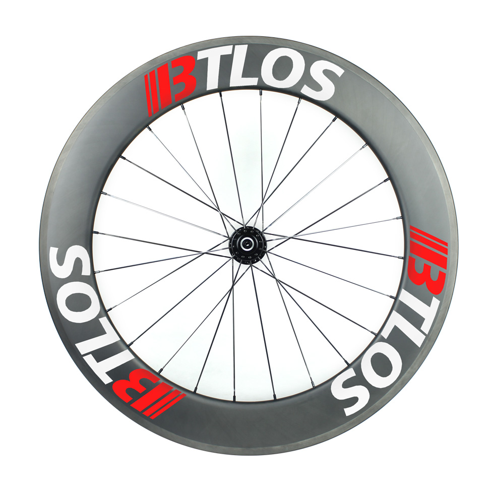 700C 80mm clincher tubeless carbon road  wheels