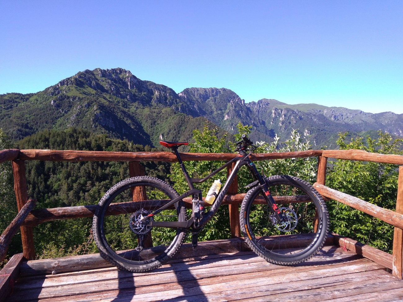 Italian Mtb bicycle with WM-i29A carbon fiber wheels